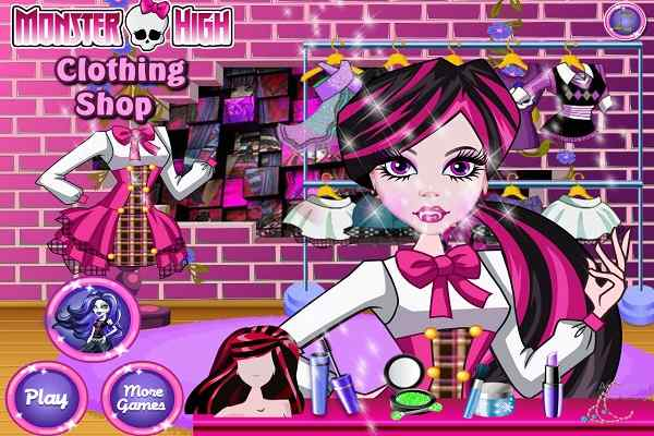 Play Monster High Clothing Shop